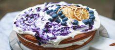 Olive Oil Blueberry Ricotta Cake