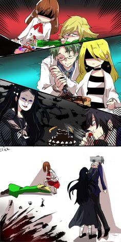 Cooking part 2 Anime Angel, Anime Demon, Manga Anime, Anime Art, Angel Of Death, Chucky Horror Movie, Base Anime, Ib Game, Scary Games