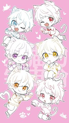 Chibi Boy, Cute Anime Chibi, Cute Anime Boy, Anime Guys, Kawaii Cat, Kawaii Anime, Pink Hair Anime, Ocarina Of Times, Anime Friendship