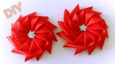 """Мастер-класс: Как сделать красивый Бантик Звездочку из атласной ленты своими руками. Tutorial: How to make Ribbon Bow """"Star"""" **************************ОПИСАН..."""