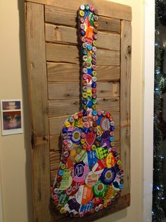 SOLD Folk Artist Alan Moore Soda Can Folk Art Guitar SOLD