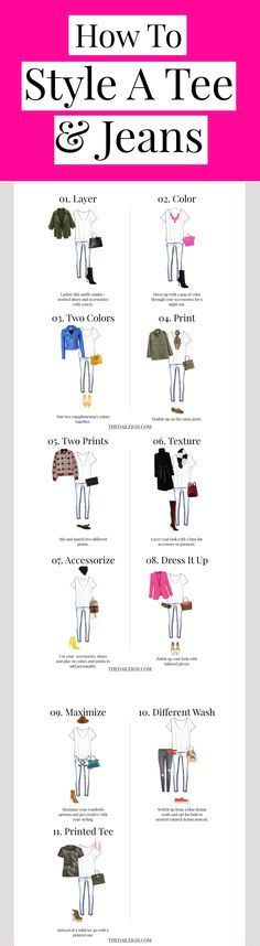 How To Dress, Tee and Jeans Outfits, How To Wear A Tee, How To Wear A Tee Shirt Outfits, How To Style A Tee Shirt, Tee Shirt And Jeans Outfit, Tee Shirt And Jeans Outfit Casual, Tee Shirt And Jeans Outfit Winter, Tee Shirt And Jeans Outfit Simple, Tee Shirt And Jeans Outfit, How To Wear A Tee Shirt With Jeans, How To Wear A Tee Shirt, How To Wear A Tee Shirt Outfits, How To Wear A Tee Shirt In Winter, Fashion Tips For Women