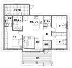 [BY 월간 전원속의 내집] 도시에서 왕성한 경제활동을 하면서도 마음 한켠 한적한 시골살이를 꿈꿨던 ... Sims Building, Building A House, Home Design Floor Plans, Interior Sketch, My House, House Plans, New Homes, Layout, House Design