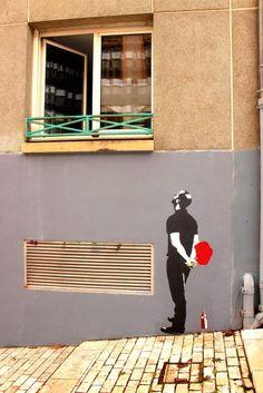 """Big Ben"" - Street Art Lyon"