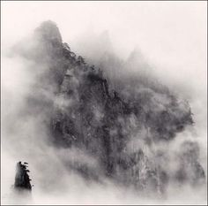 Michael Kenna, Huangshan Mountains, Study 8, Anhui, China, 2008.