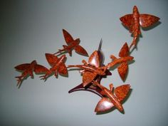 Flyingfish and Marlin carving by Ron Bailey Carving, Fish, Wood Carvings, Sculpting, Cut Work, Sculpture