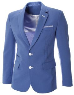 FLATSEVEN Mens Slim Fit Single Two Button Solid Long Sleeve Blazer Jacket (BJ460) Blue, L FLATSEVEN http://www.amazon.com/dp/B00KAT2DOM/ref=cm_sw_r_pi_dp_eEolub1N9NBWK
