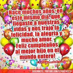 Felicitaciones de Cumpleaños para un Hijo  VER EN ░▒▓██► http://etiquetate.net/felicitaciones-de-cumpleanos-para-un-hijo/
