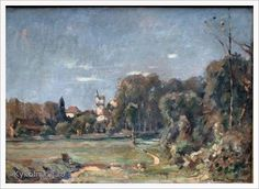 Einar Mogens Wegener (Danish, 1882-1931) «Landscape with castle» 1925