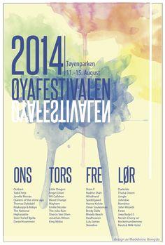 Et design prosjekt - øyefestivalen Angel Olsen, Little Dragon, Stone Age, Posters, Design, Poster, Billboard