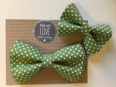 Hand made Bow tie - for father and son