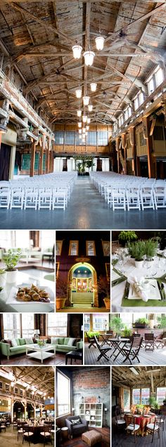 Herban Feast's Sodo Park wedding ceremony and reception venue for an urban-chic, green, downtown Seattle wedding