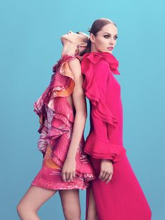 Anja Rubik and Karmen Pedaru Star in Gucci Style S/S 2013 by Benjamin Grillon