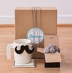 Mr. Moustache Gift Box Moustache, Fathers Day, Valentines Day, Box, Birthday, Tableware, Gifts, Valentine's Day Diy, Mustache