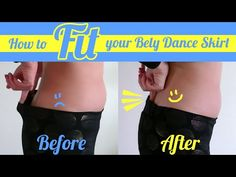 How to Fit your Belly Dance Skirt - Must-learn trick for dancers! - YouTube