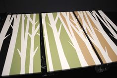 Crafted Love: DIY | Tree Branch Art (paint tape art) Full tutorial available on her blog