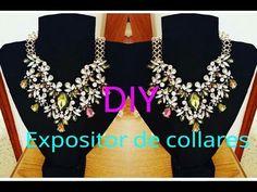 DIY Como hacer un expositor de collares muy facil. Exhibidor de collares, Porta collares, Necklace d - YouTube