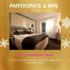 Win 2 nights for 2 at our member hotel SAND, Timmendorferstrand, Germany. Contemporary Design, Advent Calendar, Germany, Night, Architecture, Travel, Home Decor, Voyage, Homemade Home Decor