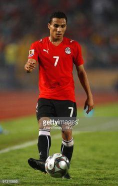 Aly Mohamed of Egypt in action during the Group A FIFA U20 World Cup match between Italy and Egypt at the Cairo International Stadium on October 1...