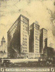 Ford Hotel Toronto Vintage Postcard 1931  by TheOldBarnDoor