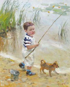 Картина охота – рыбалка – гончие собаки – охота на оленя, кабана, волков, уток…