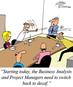 Humor - Cartoon: Maintaining Good Relationships between Business Analysts and Project Managers