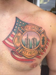 A heart wrenching tribute. #InkedMagazine #tattoo #Tattoos #FDNY #tribute #inked #memorial #hero