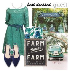 """""""Barn Wedding"""" by janicevc on Polyvore featuring Christian Dior, Primitives By Kathy, bestdressedguest and barnwedding"""