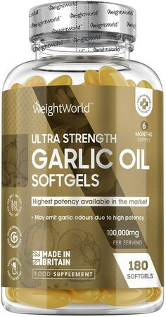 ✔ WeightWorld High Strength Natural Daily Health Garlic Oil Capsules are stongest Garlic supplement on the market with our Garlic Oil softgels. Delivering 100,000mg equivelant of Allicin enriched natural Garlic Oil for the purpose of heart health, cholesterol and the maintenance of a healthy immune system for keeping you feeling as healthy as possible. ✔ Natural Daily Garlic Health Softgel Capsules - Discover the natural power of our premium, quality sourc #HomeRemediesForCold Severe Cough Remedies, Best Cough Remedy, Toddler Cough Remedies, Homemade Cough Remedies, Natural Remedies For Arthritis, Home Remedy For Cough, Cold Home Remedies, Antibiotics For Sinus Infection