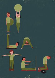 PILATES by illustrista: I discovered these illustrators via Where the Lovely Things Are