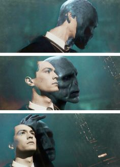 'He sank so deeply into the Dark Arts... that when he resurfaced as Lord Voldemort, he was barely recognisable.'