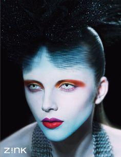 """Black Rainbow"" | Model: Alisa Baschurina, Photographer: GL Wood, Zink Magazine, October 2010"