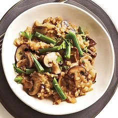 Mushroom-Brown Rice Risotto