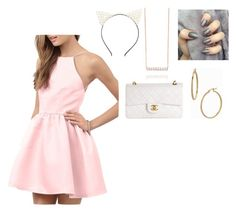 """""""❤"""" by regeamyre on Polyvore featuring Charlotte Russe, Chanel and Bony Levy"""
