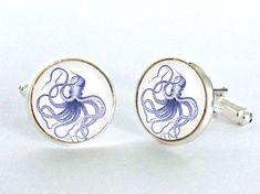 Octopus Cufflinks by Blackbird Design UK
