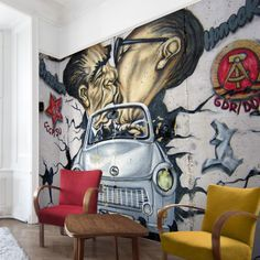 #Vliestapete - 1989 - Fototapete Breit #Graffiti #sprayen #streetlife #skater #yolo