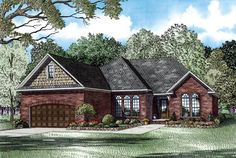 House Plan 82278 |  Plan with 1848 Sq. Ft., 3 Bedrooms, 2 Bathrooms, 2 Car Garage