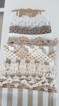 Crochet Towel, Crochet Fabric, Crochet Trim, Diy Crochet, Crochet Edging Patterns, Crochet Borders, Craft Stash, Creative Textiles, Crochet Projects