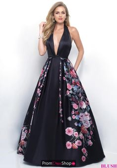 Blush Long V Neck Dress 5613