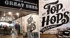 Top Hops Beer Shop in NYC. Brand identity by Austin-based Helms Workshop