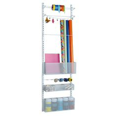 <div><div>Keep all of your crafting supplies neat and organized with this large storage rack. Bi...