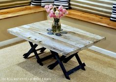 Reclaimed Barn Wood Coffee Table  How to do FAUX Barnwood diy-crafts