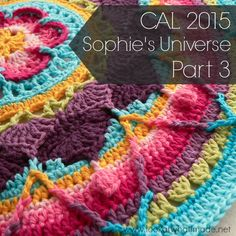 Sophie's Universe Part 3 {CAL 2015} Stitch Crochet, Form Crochet, Crochet Mandala, Half Double Crochet, Single Crochet, Crochet Stitches Patterns, Stitch Patterns, Crab Stitch, Crochet Bookmarks