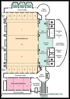 Layout Of Pasadena Convention Center Next Door At
