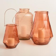 One of my favorite discoveries at WorldMarket.com: Copper Glass Aria Lantern Collection