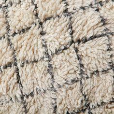 Watercolor Trellis Wool Shag Rug - Ivory #westelm
