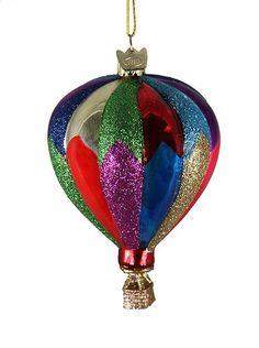 """4"""" Noble Gems Striped Hot Air Balloon Hand Blown Glass Christmas Ornament Kurt Adler http://www.amazon.com/dp/B0092SPE52/ref=cm_sw_r_pi_dp_Ymuxub0CCY3NH"""