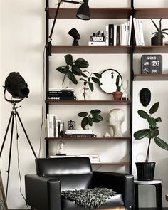 Livingroom // Wooden House, Home Fashion, Ladder Decor, Shelving, Living Room, House Styles, Interior, Instagram, Places
