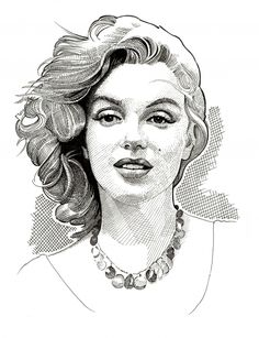 Marilyn Monroe by Stefanosart    This image first pinned to Marilyn Monroe Art board, here: http://pinterest.com/fairbanksgrafix/marilyn-monroe-art/    #Art #MarilynMonroe