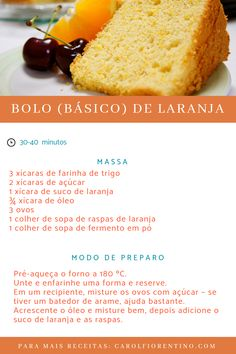 Sweet Recipes, Cake Recipes, Dessert Recipes, Desserts, Food Cakes, Good Food, Yummy Food, Portuguese Recipes, Drip Cakes